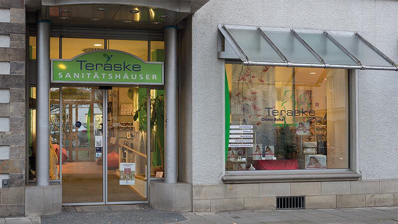 Teraske Sanitätshaus und Orthopädietechnik Schaufenster in der Hannover Innenstadt