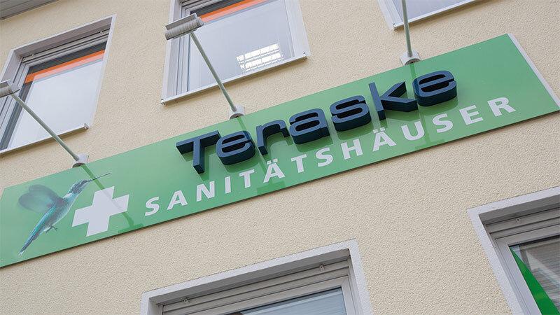 Teraske Sanitätshaus und Orthopädieschuhtechnik Eingang am Posthof