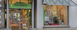 Teraske Sanitätshaus Filiale Leinstraße Außenansicht Innenstadt Hannover