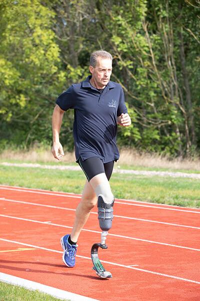 Gerald Gerken beim Training