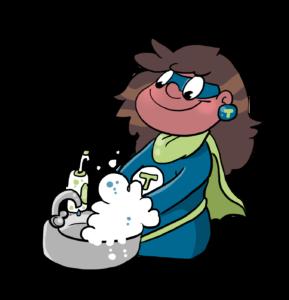Comicbild Händehygiene