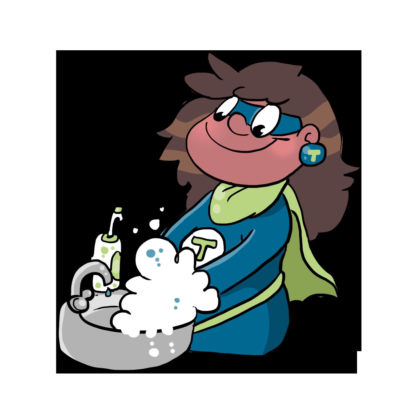 Teraske Sanitätshaus Comic Hände Waschen